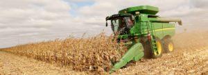 Header - Crop Insurance Man Harvesting Crops for Food